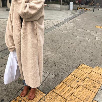 longer boa coat
