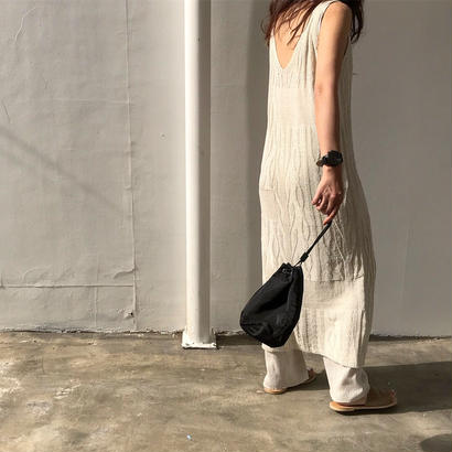 cable V knit ONE PIECE
