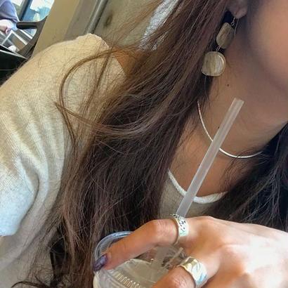 clear twochip pierced