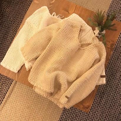 reversible handmade knit