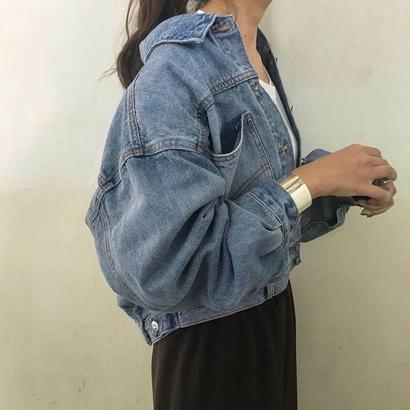 over denim jacket