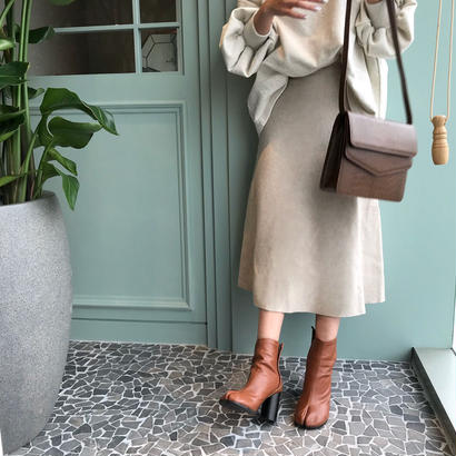 oatmeal knit skirt