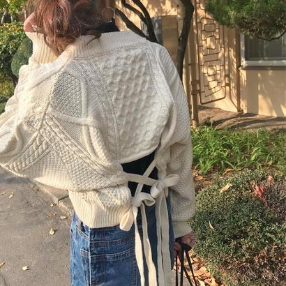 backribbon cable knit