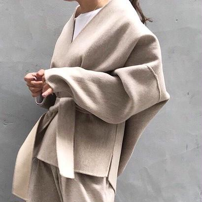 reversible handmade coat