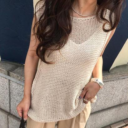 hand summer knit vest