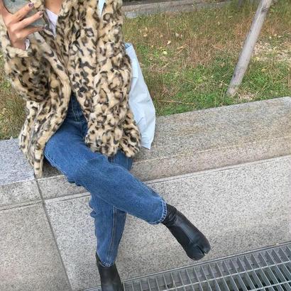 leopard ecofur coat