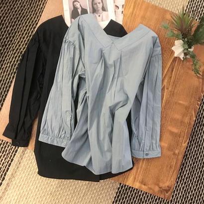 nocollar reversible  blouse