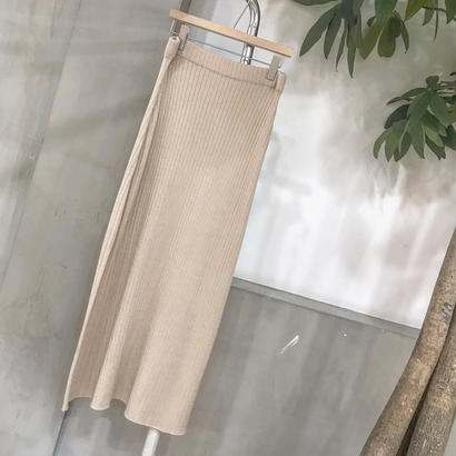 summer rib knit skirt