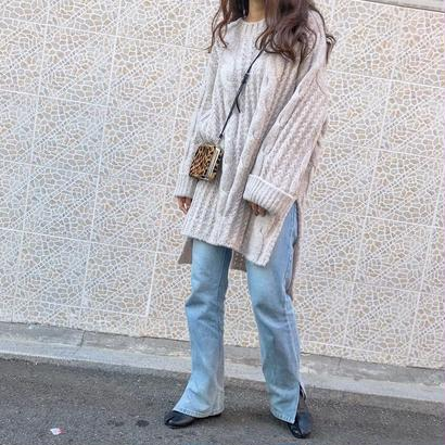 loose over cable knit