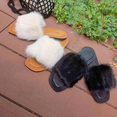 realmink fur sandal