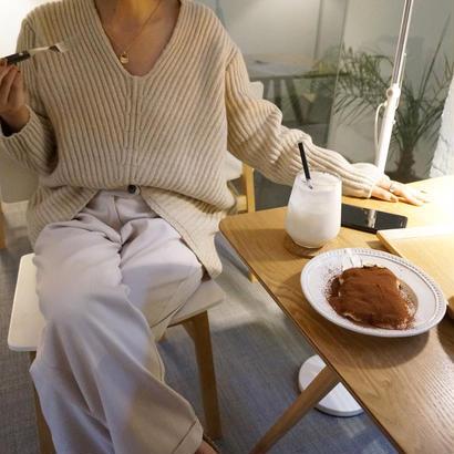 Vneck knit