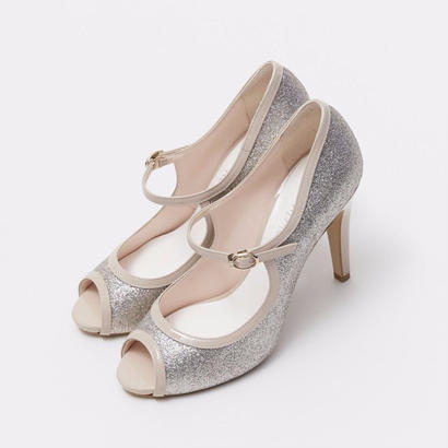 ONE STRAP OPENTOE PUMPS - PINK GOLD
