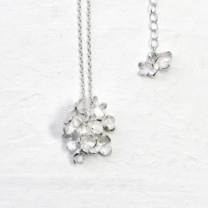 """""""hydrangia necklace"""" wh/sv"""