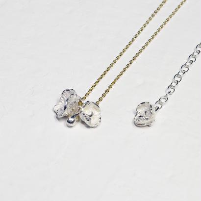 """""""poppy necklace"""" wh/K10"""