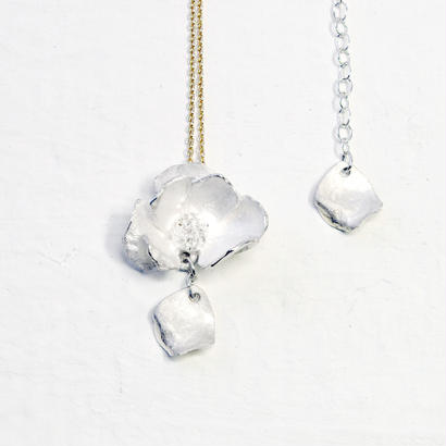"""silver moon necklace"" wh/K10"