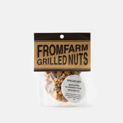 FROM FARM /GRILLED NUTS(ミックスナッツ)-MAPLE SYRUP&HASSAKU ORANGE(メイプルシロップ&はっさく)90g