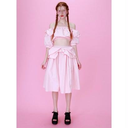 Honey mi Honey (ハニーミーハニー) taffeta ribbon skirt 17春夏.予約【17S-TA-40】