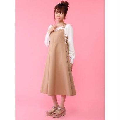 Honey Salon 【3月発送予定】レースアップサロペットワンピFHW-0863