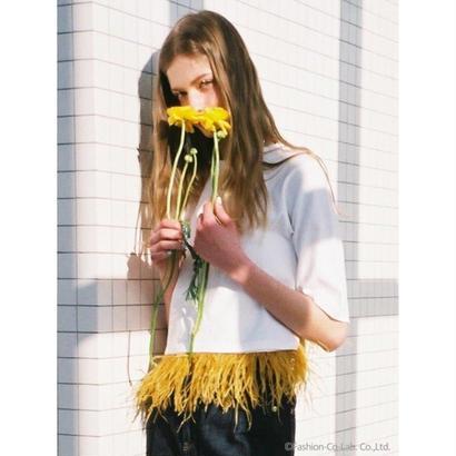 Honey mi Honey (ハニーミーハニー)  feather T-shirt 5月下旬18S-TA-37
