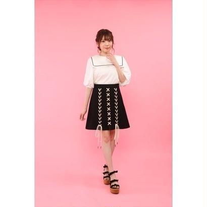 honey salon by foppish (ハニーサロン バイ フォピッシュ)  レースアップ台形スカート 5月上旬FHW-0874
