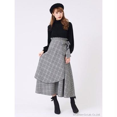 titty&Co. (ティティー アンド コー)  チェックレイヤードスカート 10月下旬
