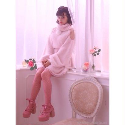 Swankiss (スワンキス)DR fur bonbon knit O/P11月下旬417407007