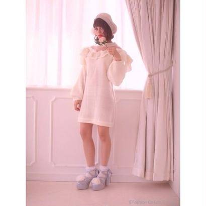 Swankiss (スワンキス)  DR ribbon tulle knit O/P 11月上旬 417407005