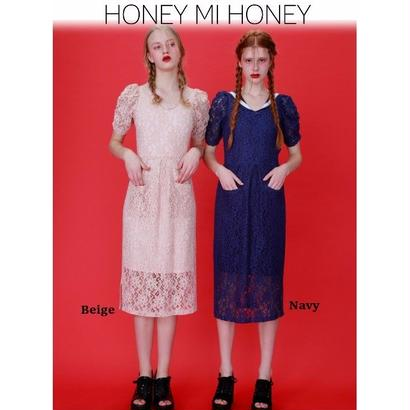 Honey mi Honey (ハニーミーハニー) lace sailor one-piece【17S-AB-08】