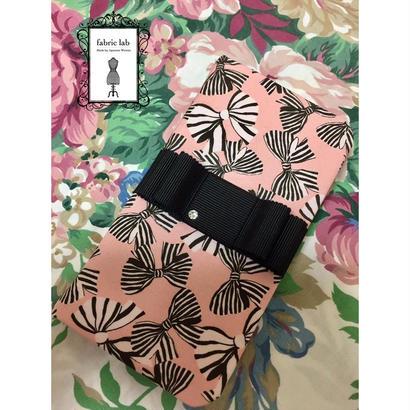 携帯ケース・iPhone7用(ピンク小リボン)