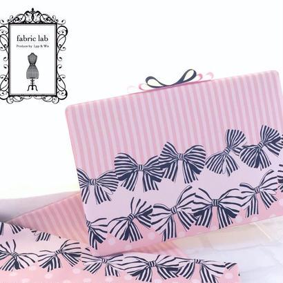 ファブリックアイロンボード(ピンク・リボン大)