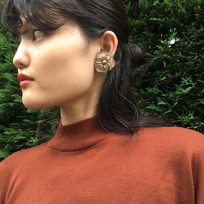 Mat Flower Earrings