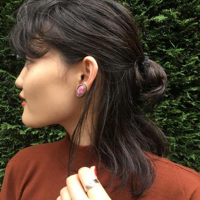 Pink Marble Earrings