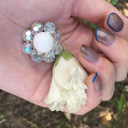 White Beads Earrings