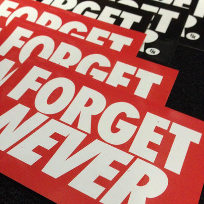 FORGET NEVER ステッカー6枚セット