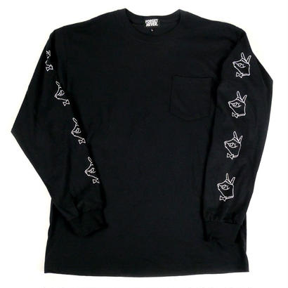 TIE BREAK - L/S T-Shirt with Pocket -【Black】