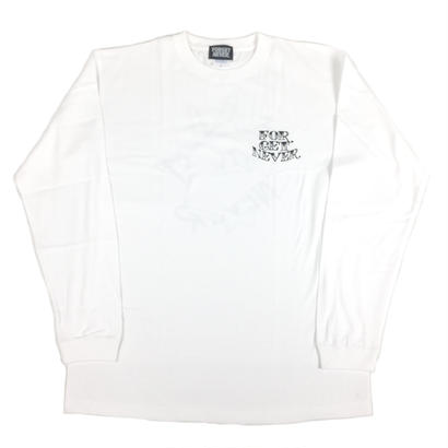 "【2016/FW】""TIE BREAK""  LONG SLEEVE TEE (White Milk)"