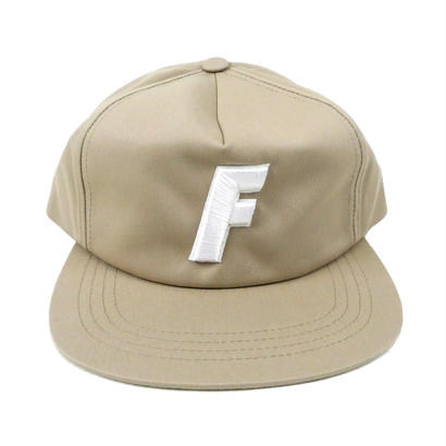 ''F'' LOGO 5 Panel Twill CAP 【 NATURAL 】