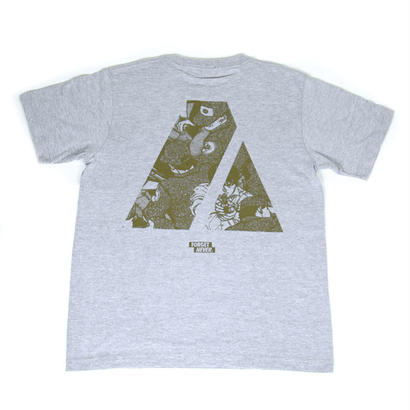 """ARMY"" S/S T-Shirt ( Grey / Mos Green )"