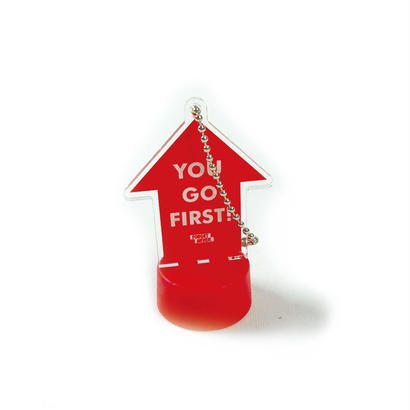 """YOU GO FIRST!"" PET BOTTLE CAP"