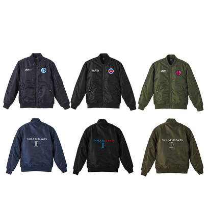 "iSOLATED ARTS ""ART""MA-1 Jacket (Navy/Black/Olive)【NEXT12/13~START】"