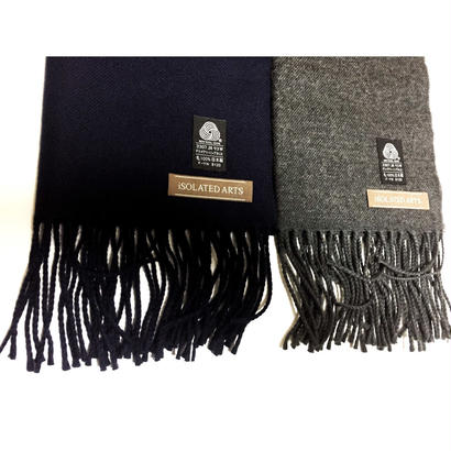 iSOLATED ARTS - Japanese Wool100% Muffler(Navy / Charcoal)