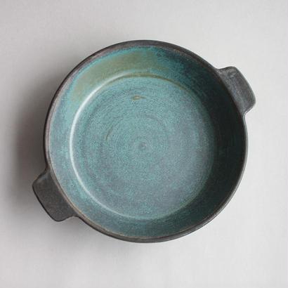 中尾雅昭:耐熱プレート 青銅 185mm