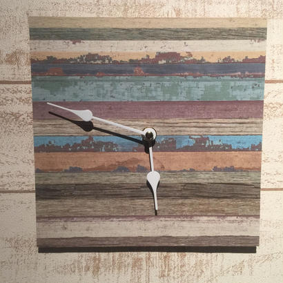 "Wall Clock ""Shabby stripe"""
