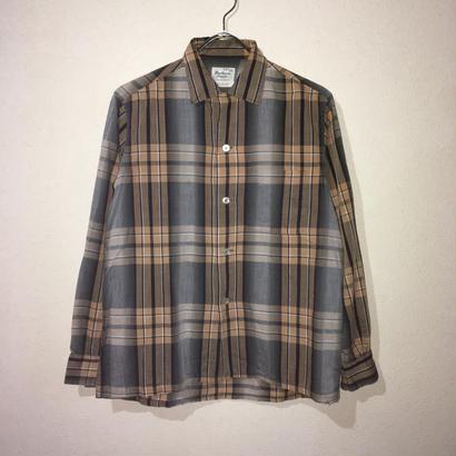 Vintage Cotton Shirt ビンテージ コットン シャツ ブラウン