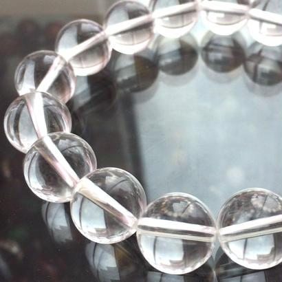 【魔除け・浄化・対人関係】水晶 AAAランク12ミリブレスレット〜あらゆる幸運を引き寄せる万能の石〜ブラジル産