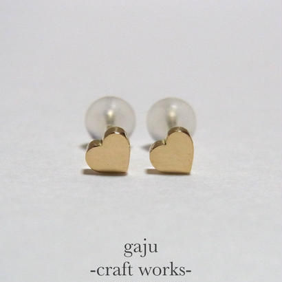 petite heart pierced earring (K18 gold)