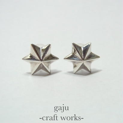 Hexagram pierced earring