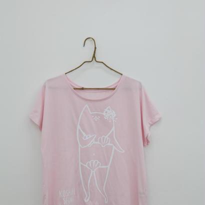 甑島ネコTシャツ 女の子バージョン プルオーバータイプ