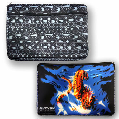 R-TYPE 「R-9 Earth-Ethnic PC Clutch Bag」-BLACK-