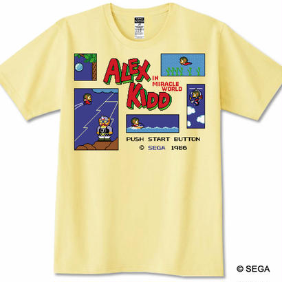 ALEX KIDD in Miracle World Tシャツ - Sサイズ - MC8bit x ALEX KIDD 特典デジタルダウンロード楽 曲付き